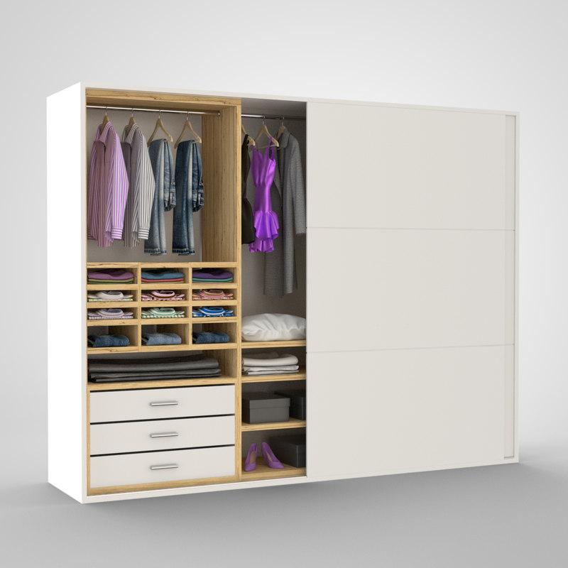3ds max closet clothing