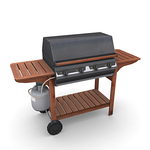 gas barbeque 3d max