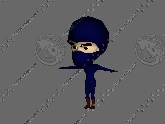 rigged cartoon guy man character 3d model