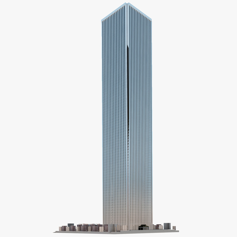 aon center chicago 3d model