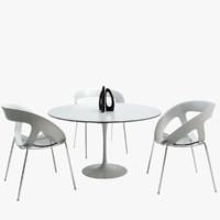 3d chair table gaber model