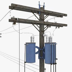 3ds max utility pole