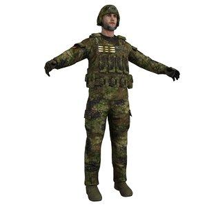 3d model of soldier 3