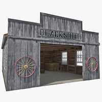 3d model blacksmith shop