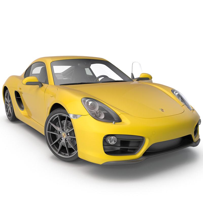 3d model porsche cayman 2013 sport car