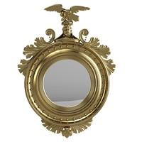 Classic round girandole mirror baroque