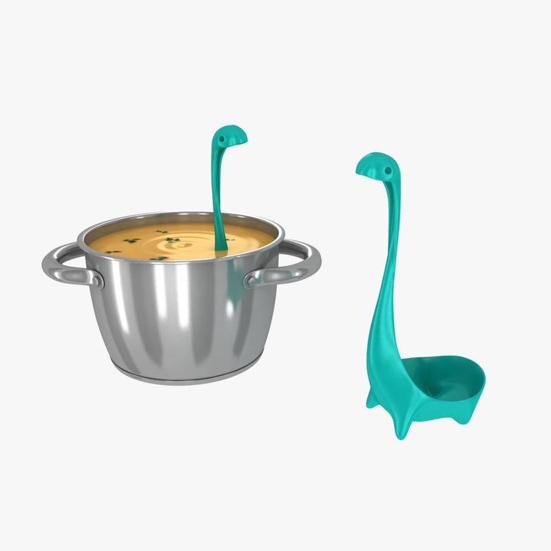 3d aluminium pan ladle