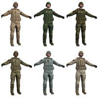 3d model pack soldier