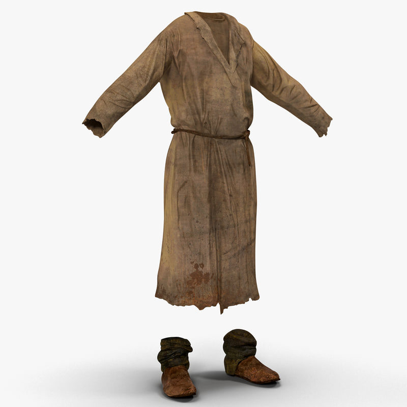 3d peasant men clothing