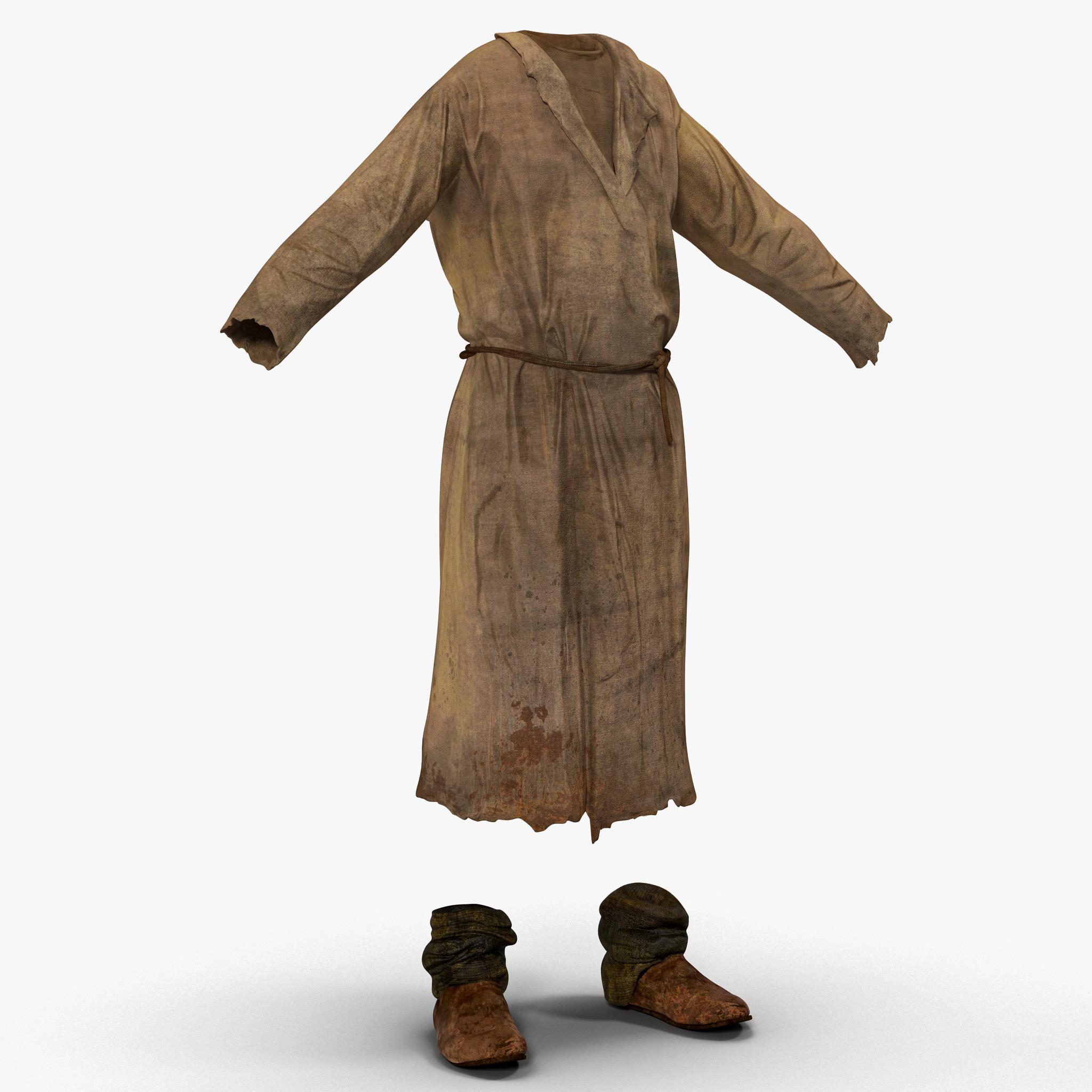 3d peasant men clothing