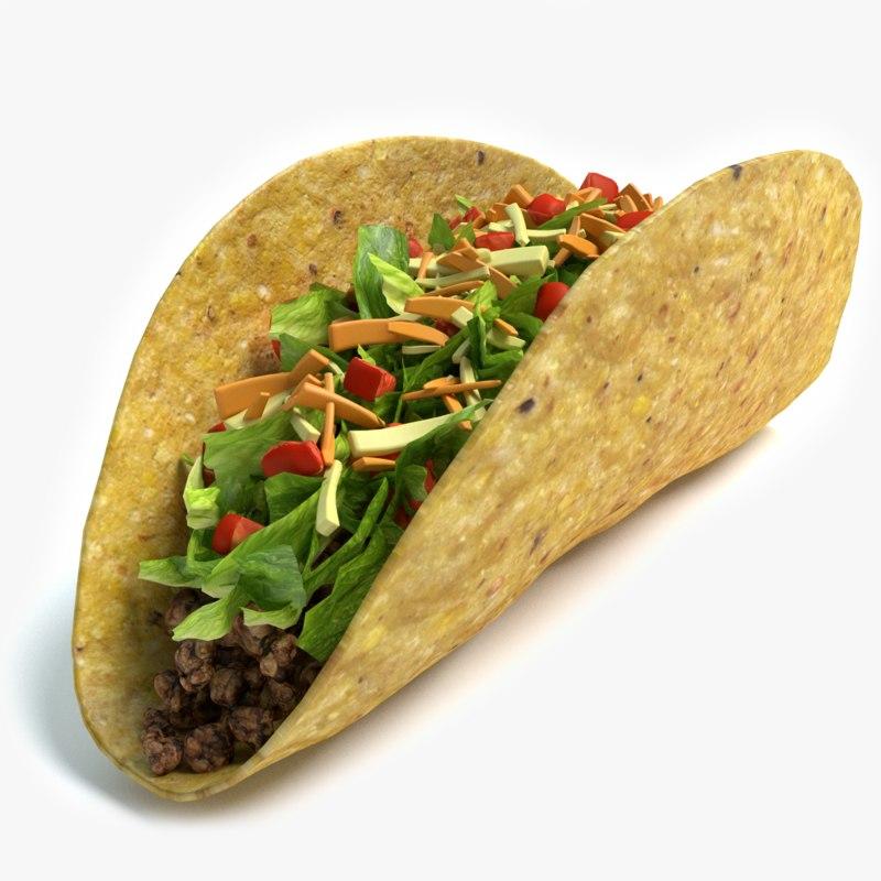 3d model taco