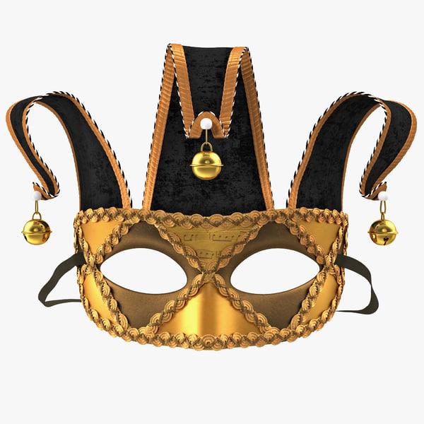 3d model joker masquerade mask
