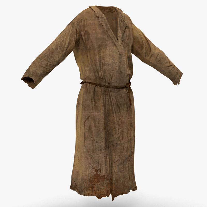 peasant men clothing 3d model