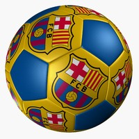 3d barcelona soccer ball model