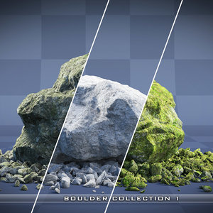 realistic boulder - rock max