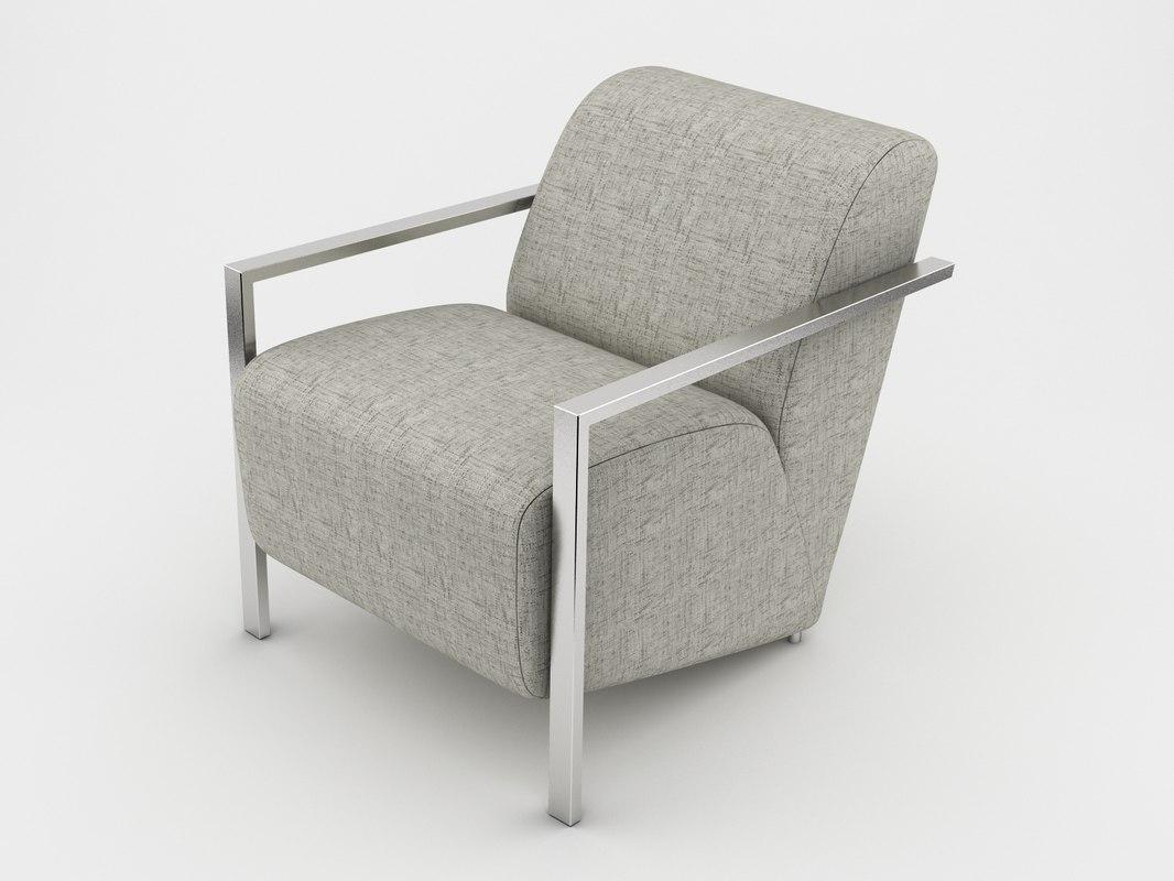 chair armchair arm 3d obj