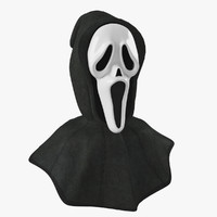 Mask scream with hood