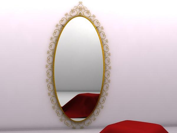 3d mirror frame walls model