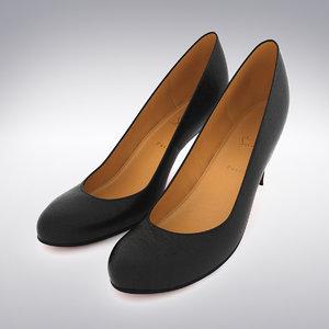 christian louboutin heels scanning 3d max