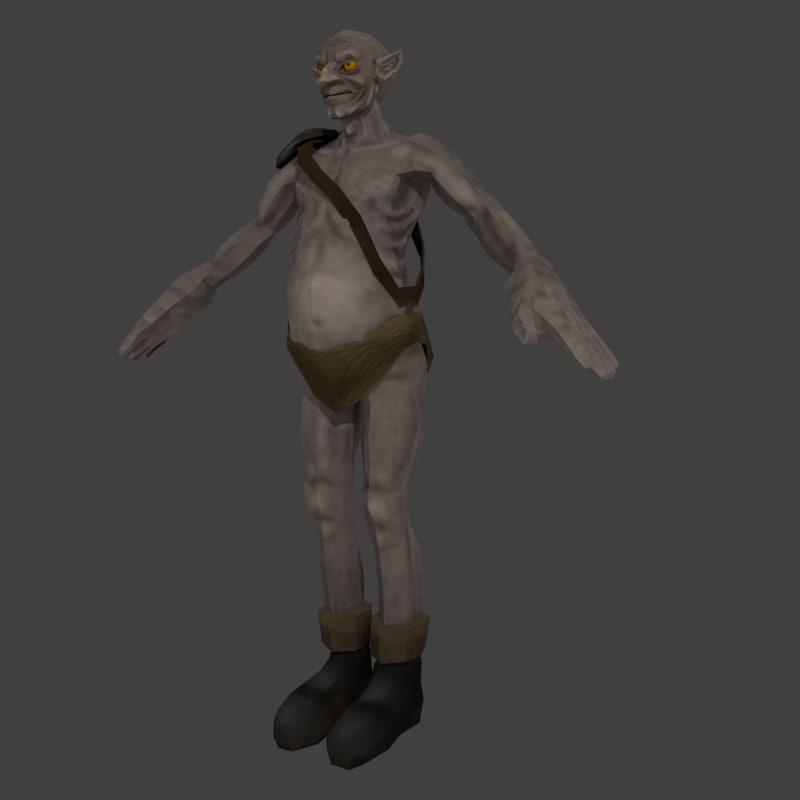 3ds max medieval goblin