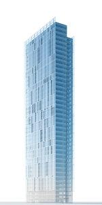 contemporary skyscraper building 3d model