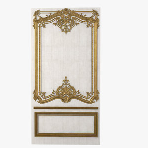 antique boiserie panel wather 3ds
