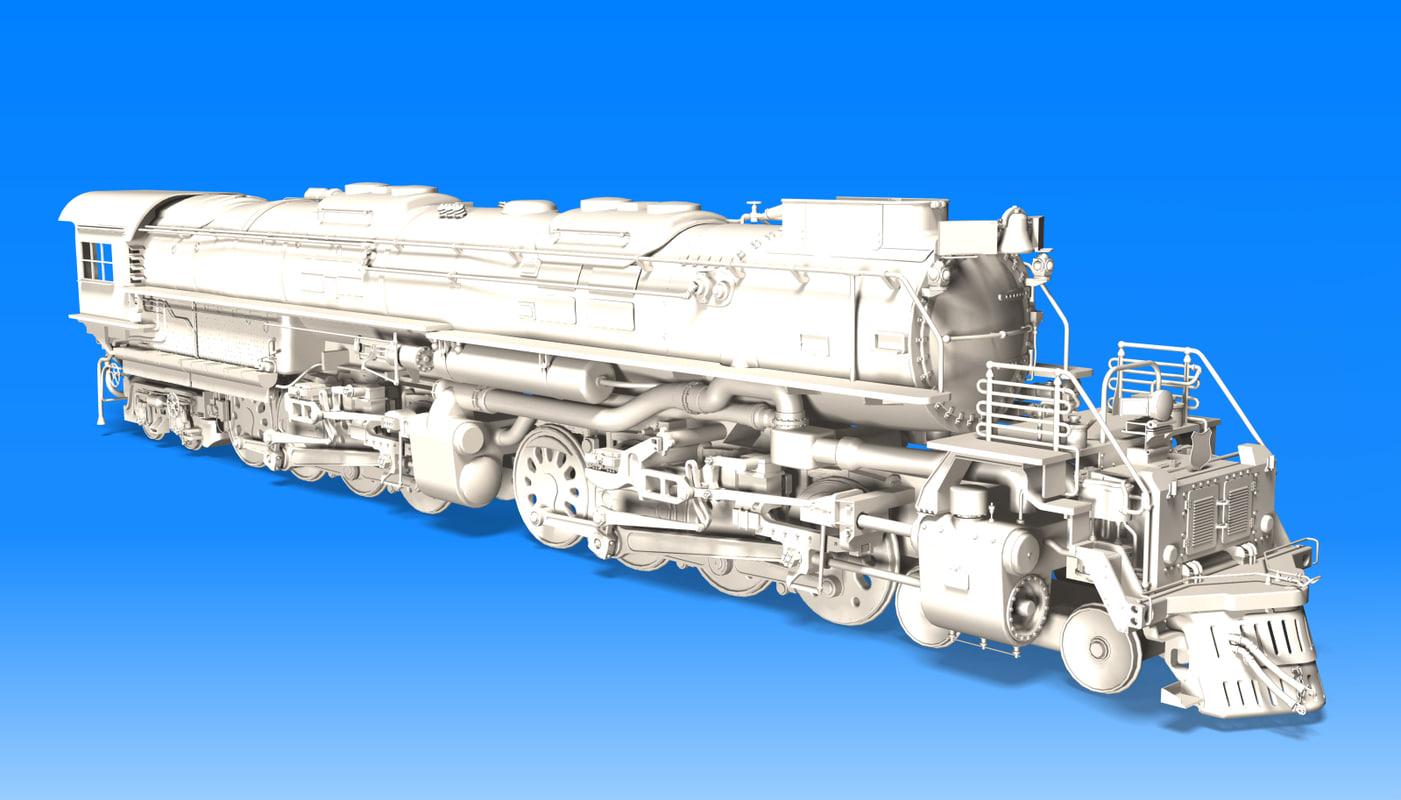 big boy locomotive steam 3d 3ds