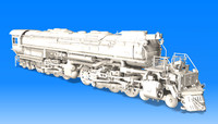 big boy locomotive steam 3d 3ds