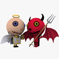 cute devil vs angel 3d 3ds