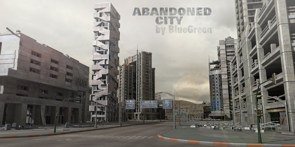 abandoned city building 3d model