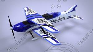rc f3a biplane 3d 3dm
