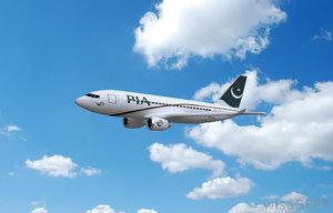 pakistan pia airplane 3d model