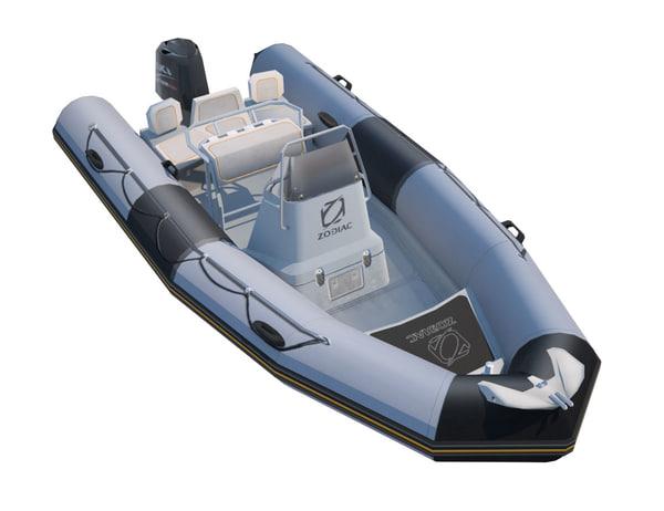 3d inflatable boat zodiac 550 model