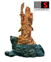 3dsmax sculpture chinese warrior