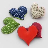 pillows heart 3d model
