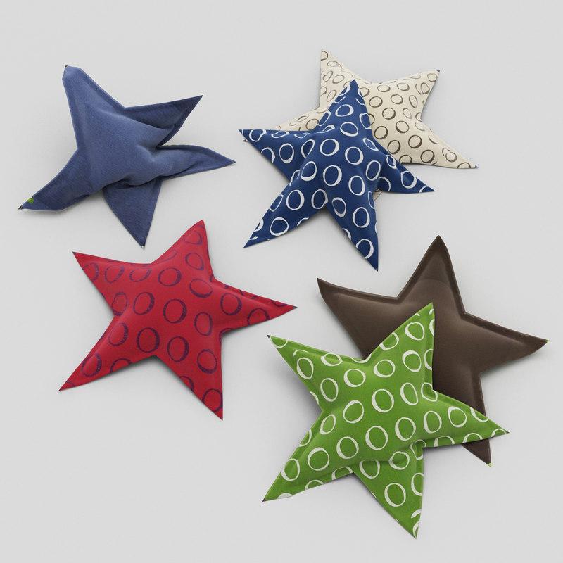 3d pillows star