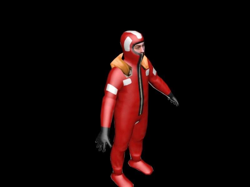 3d survival fireman model