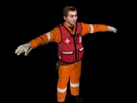 3d fireman medic model