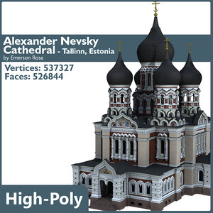 cathedral alexander nevsky 3d model