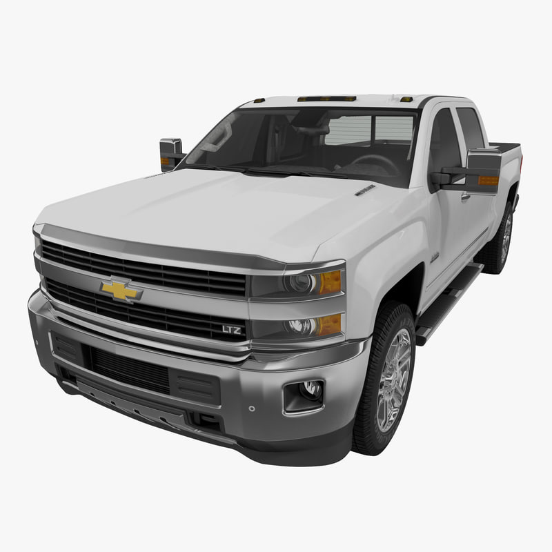 3d model of chevrolet silverado 3500hd 2015