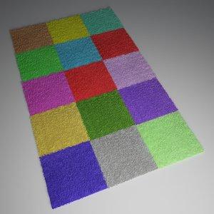 3d model of kid carpet 1 hairpoly