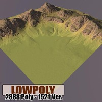 3d model of mountain maps terrain