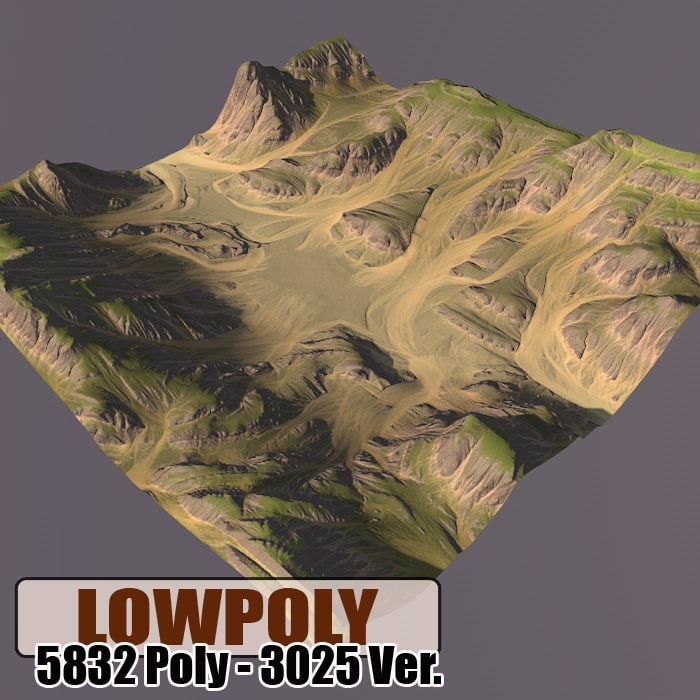 mountain maps terrain 3d c4d