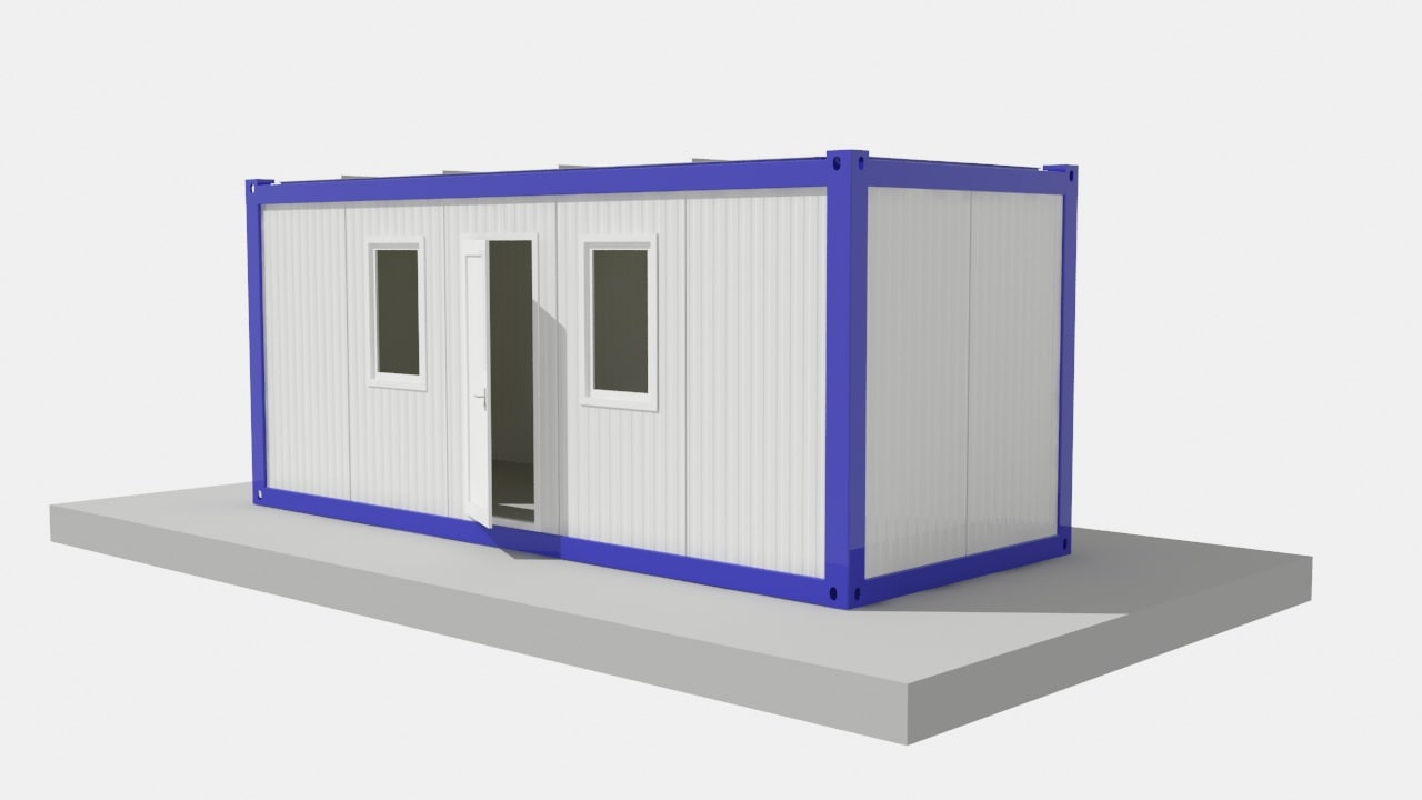 3d max 20ft office container