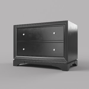 closed nightstand 3d max