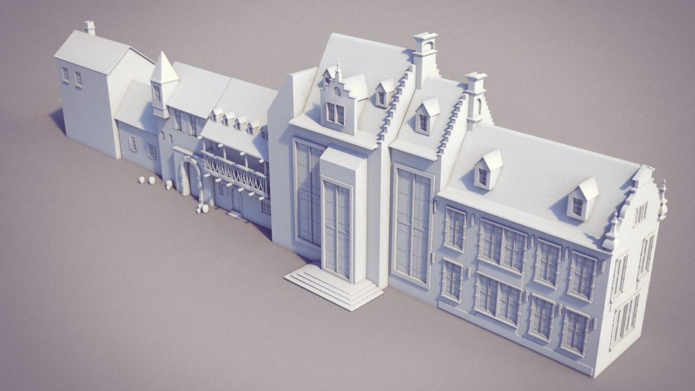 3d model house set