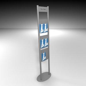 3ds flyer brochure rack