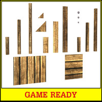 Wooden Planks Game Asset Collection