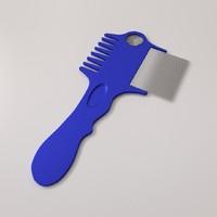 3d lice comb v2 model