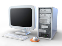 3d pc computer cartoon